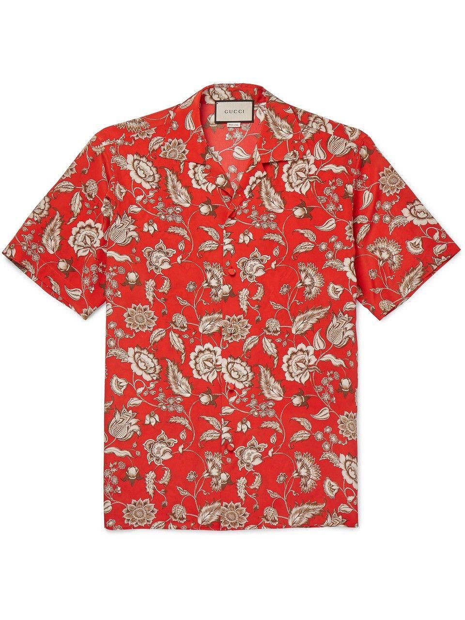 c9695609460 GUCCI Floral-Print Silk Crepe De Chine Shirt.  gucci  cloth ...