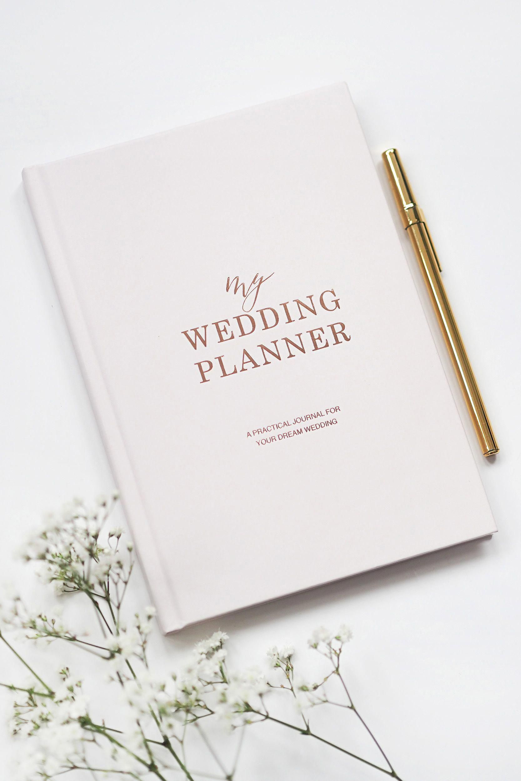 Light Blush With Rose Gold Foil Luxury Wedding Planner