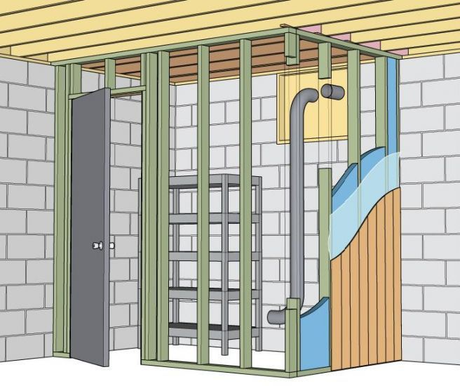 How To Build A Cold Room In Your Basement. Build A Cold Room In Your Home Basement Root Cellar Summer Months And Basements