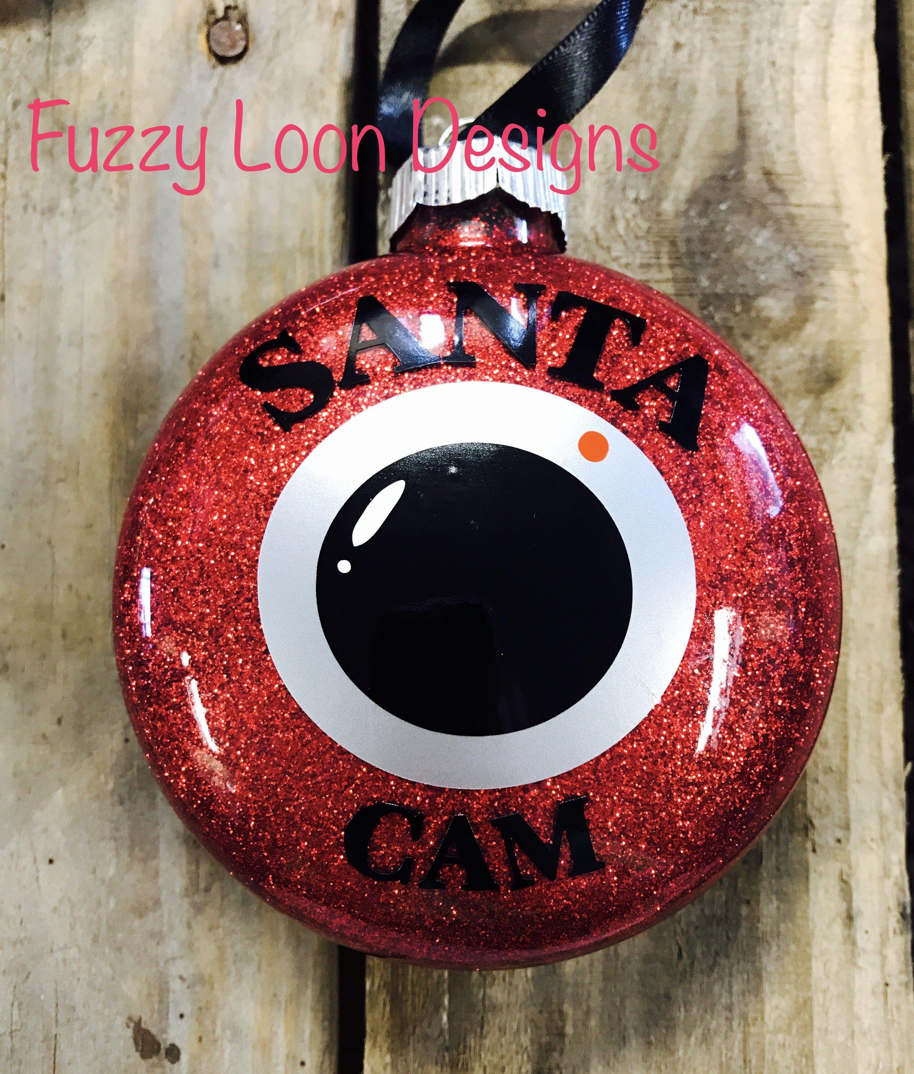 Santa Cam Ornaments Santa cam ornament, Christmas crafts