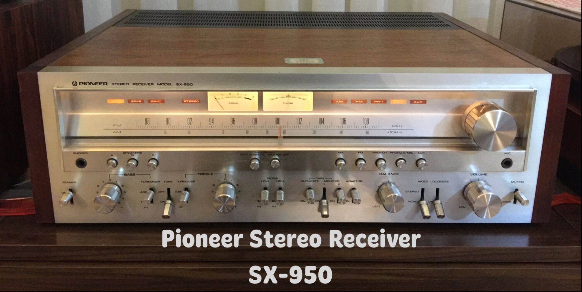 Pioneer Stereo Receiver Sx 950