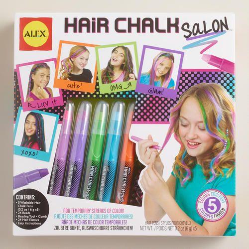 Hair Chalk Salon Kit At Cost Plus World Market WorldMarket Gifts For Kids