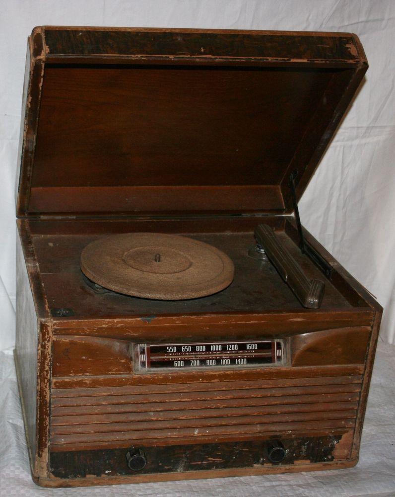 Record Player Store Near Me : vintage philco wood case tube radio record player parts restore decor as is philco ~ Hamham.info Haus und Dekorationen