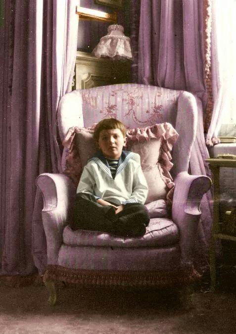 Tsarevich Alexei Nikolaevich Romanov of Russia in the Mauve Room.A♥W