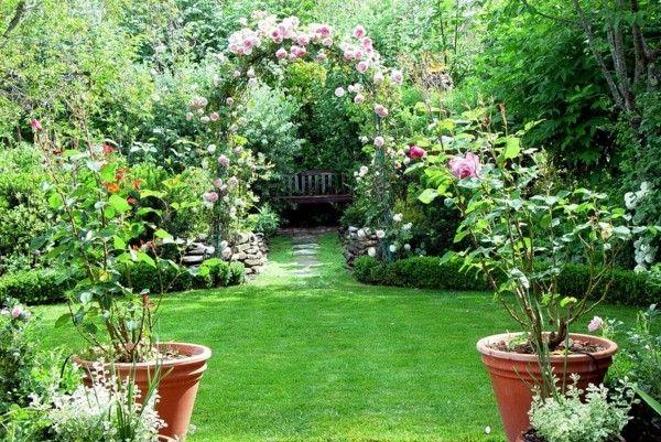Paisajes naturales en el jardín, deléitese con las vistas - paisaje jardin