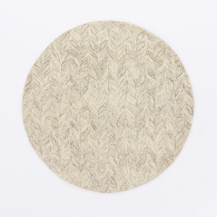 Vines Wool Rug Round Wool Rug Modern Wool Rugs Round Carpets