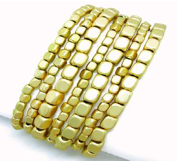 7 Strand Gold Bead Bracelet.  Item #PB0102MG  Available at Impulse Gifts 812.481.2880 We ship daily.   https://www.facebook.com/ImpulseJasper
