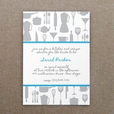 Invitation Template  Kitchen Bridal Shower  Kitchen Shower