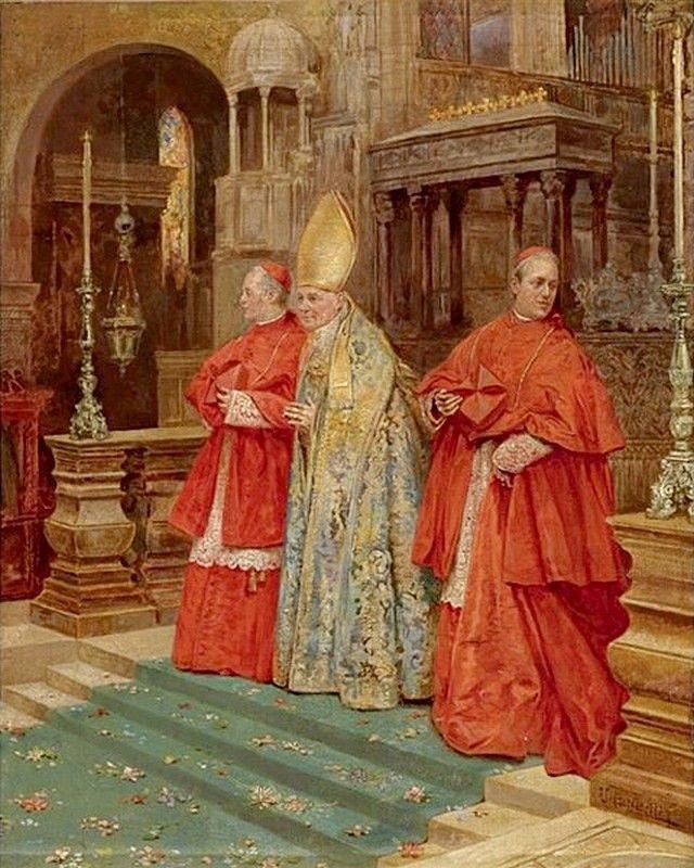 Umberto Cacciarelli (1880-1910) — Saying Mass (640x800 ...