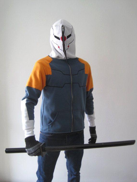 0fde4bd8 Cyborg Ninja Hoodie Jacket by SixOnClothing on Etsy Exoskeleton Suit, Grey  Fox, Metal Gear