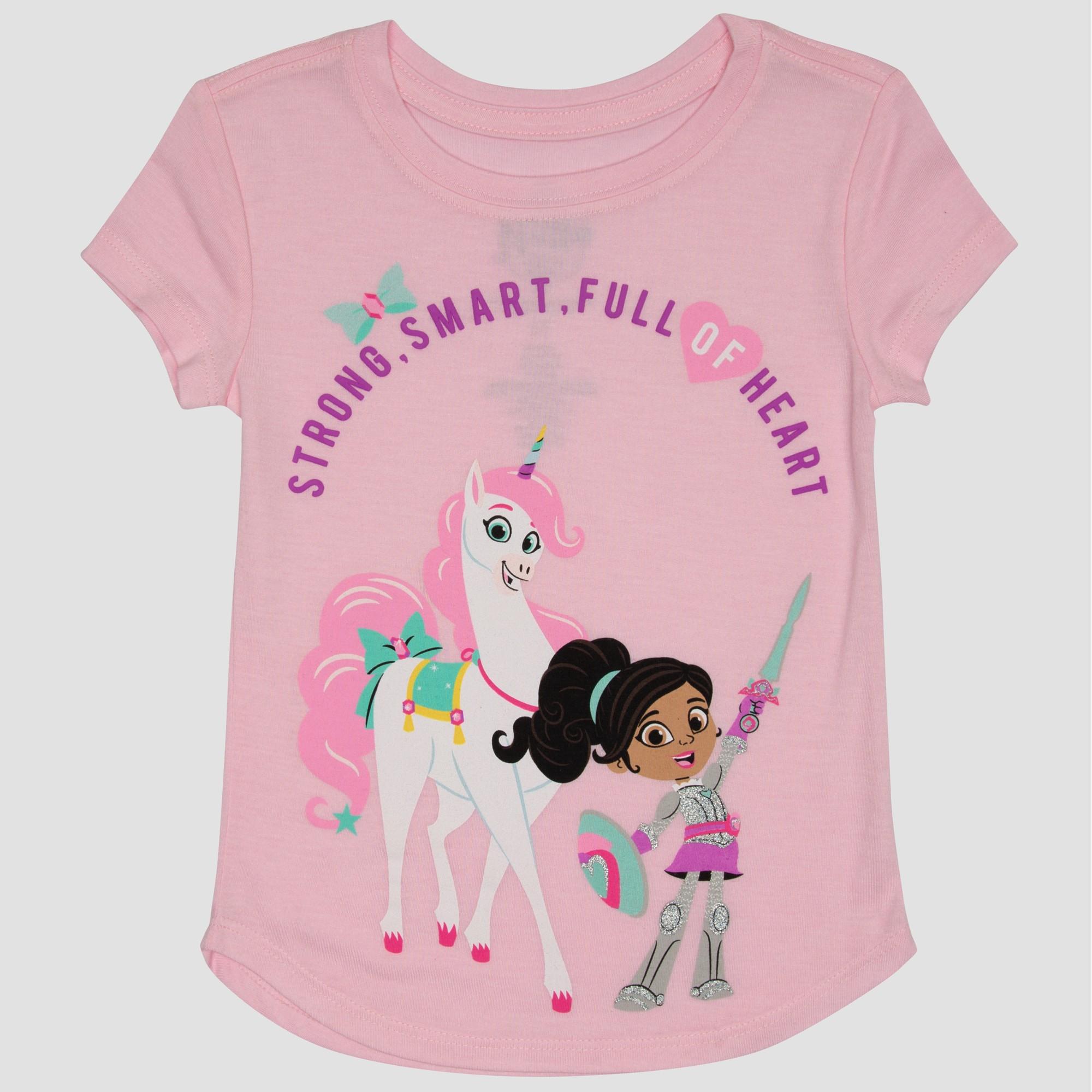 Toddler Girls/' Nickelodeon Nella the Princess Knight Short Sleeve T-Shirt Pink