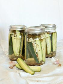 Without a doubt, these homemade refrigerator pickles were the hit of the party I recently threw to help my teacher friends start summer off...