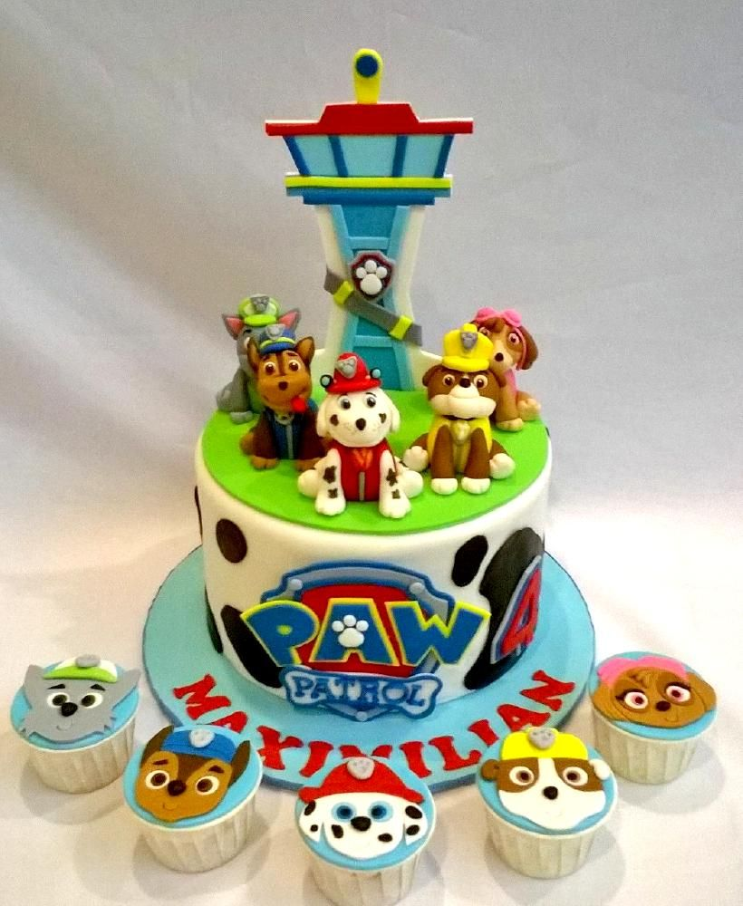 Paws Petrol 3d Cake Cupcakes With Images Paw Patrol Cake