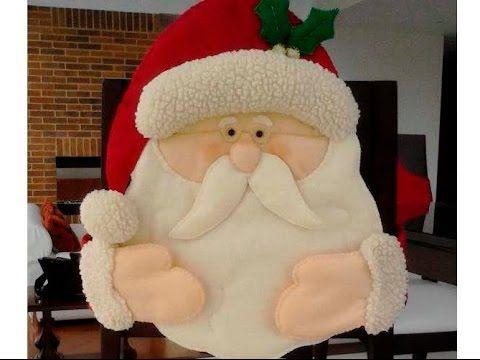 Cubre Sillas De Papa Noel O Santa Claus Video Tutorial Httpswww - Manualidades-navideas-papa-noel
