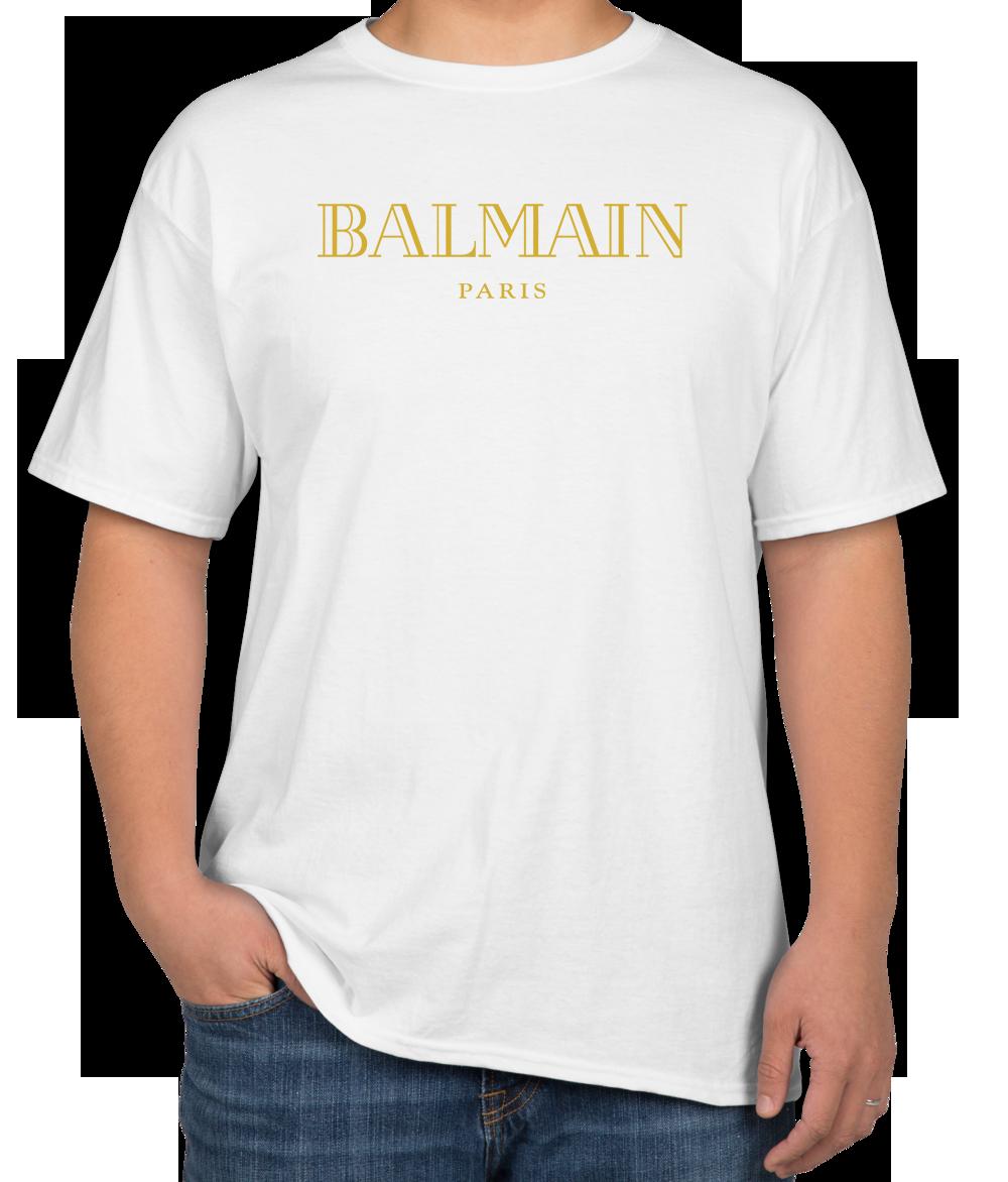 3fa136637053 awesome Balmain Gold Logo Unisex T-Shirt