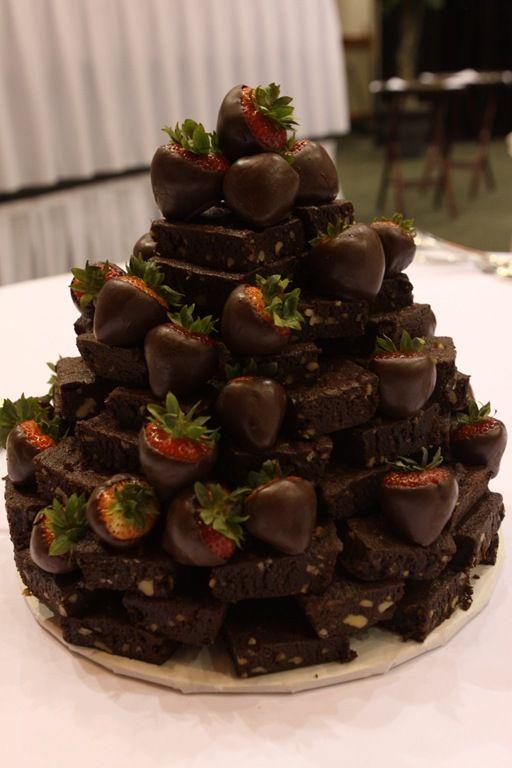 Chocolate Brownie Wedding Cake Google Search