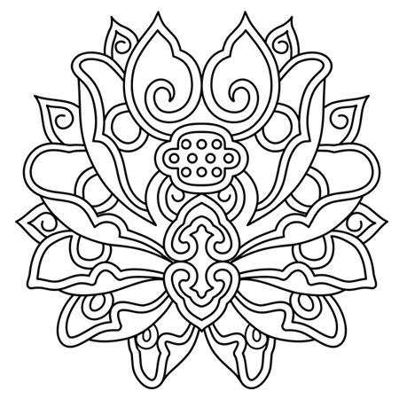 Lotus mandala dessin fleur de lotus mandala a colorier patterns pinterest adult coloring - Coloriage fleur de lotus ...