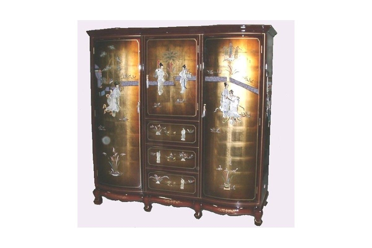 armoire laqu e chinoise bonneti re meuble chinois laqu meubles asiatiques pinterest. Black Bedroom Furniture Sets. Home Design Ideas