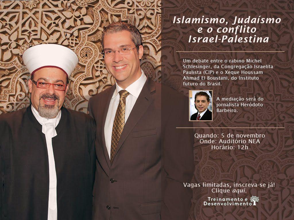 O rabino Michel Schlesinger participou, ao lado do xeique Houssam Ahmad El Boustani, do programa Abril Insights, direcionado aos funcionários da editora.