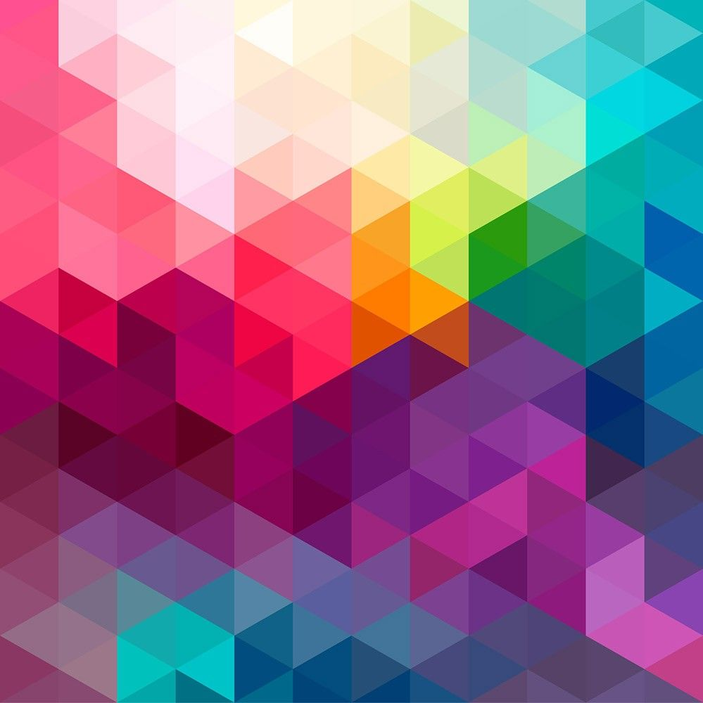 Background Colorful Room: Colorful Shapes Background 2 Wall Mural