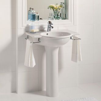 Guest Bathroom Like This Pedestal Sink Porcher 24258 Sapho