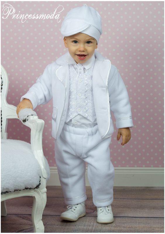 ELIAS - Sehr warmer Taufanzug in weiß für die Wintertaufe ...