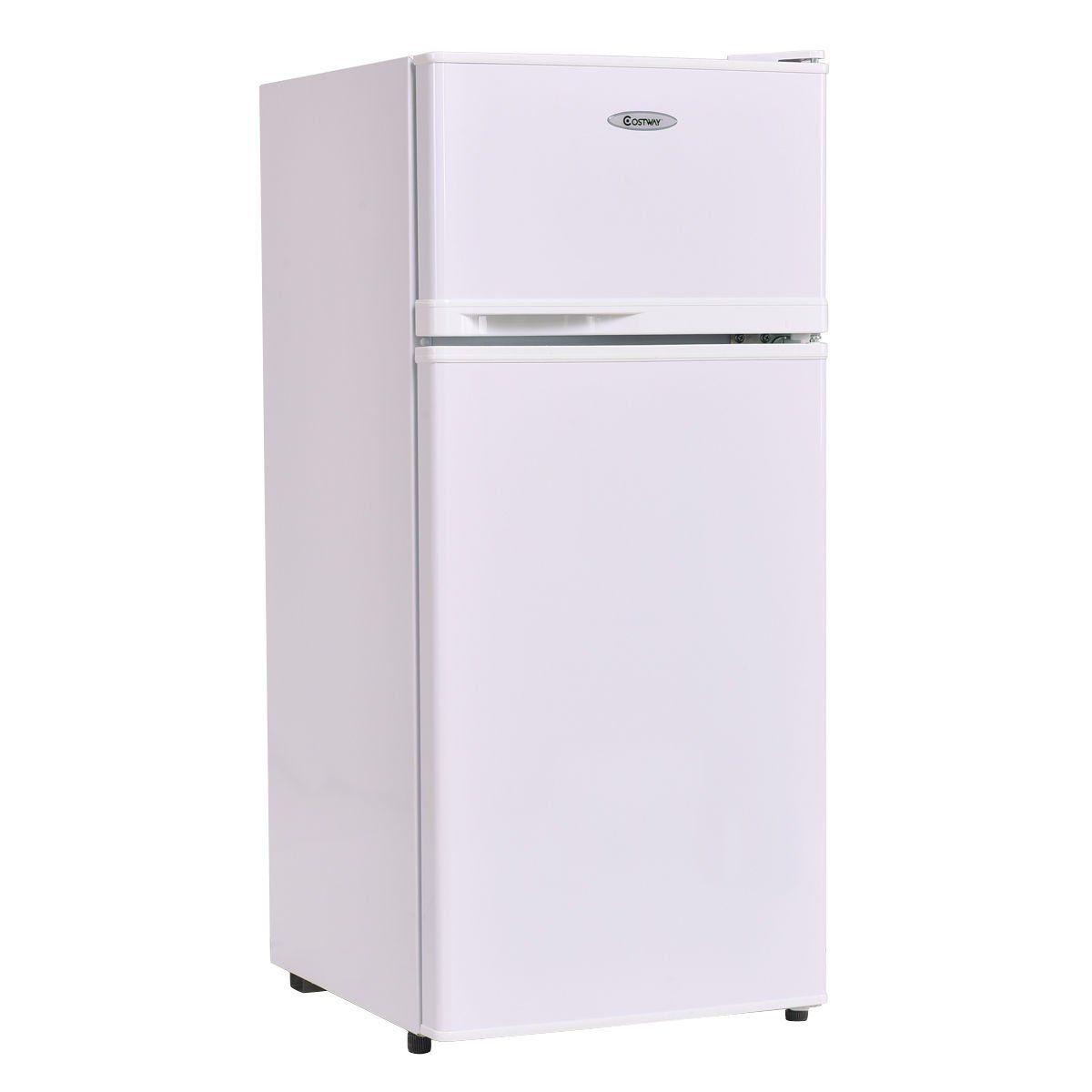 Amazon.com: Costway 3.4 Cu. Ft. 2 Door Compact Mini Refrigerator Freezer