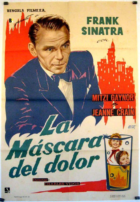 """La máscara del dolor (The Joker is Wild) 1957 Un prometedor cantante de """"night-club"""", Joe E. Lewis, pierde la voz a causa del ataque de unos gángsters, por lo que ha de cambiar su profesión, comenzando a trabajar como humorista."""