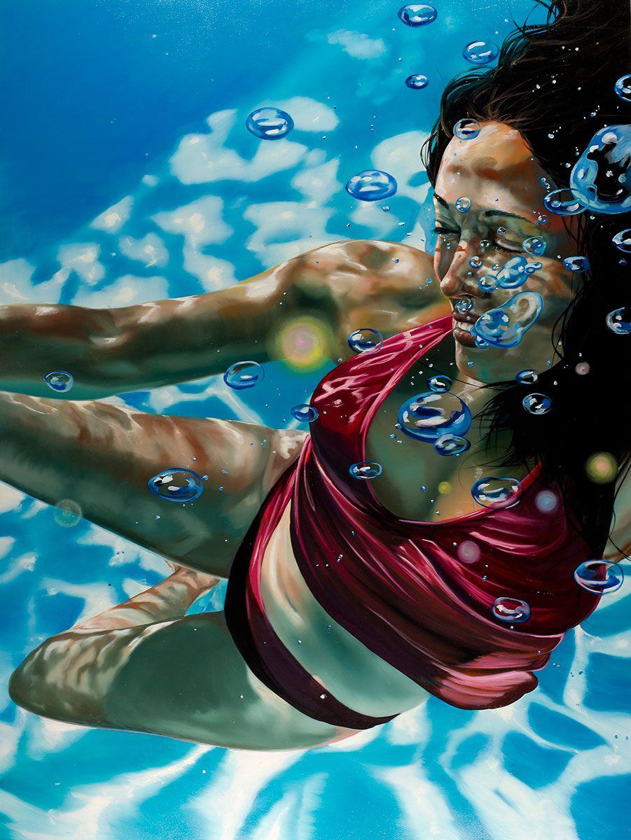 underwater painting easy - 736×980