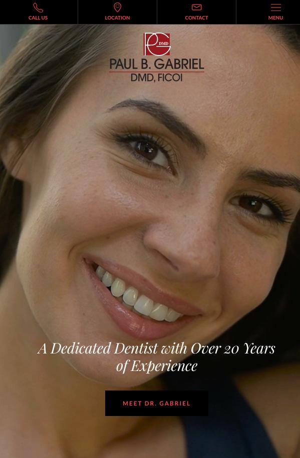 Dr. Paul Gabriel Dental website, Dentist, Dmd
