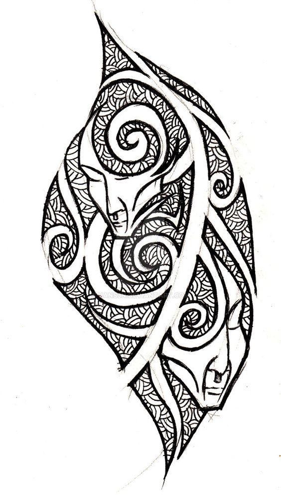 Gemini Tribal Tattoo Concept By Vans3n Gemini Tattoo Tribal Tattoos Maori Tattoo