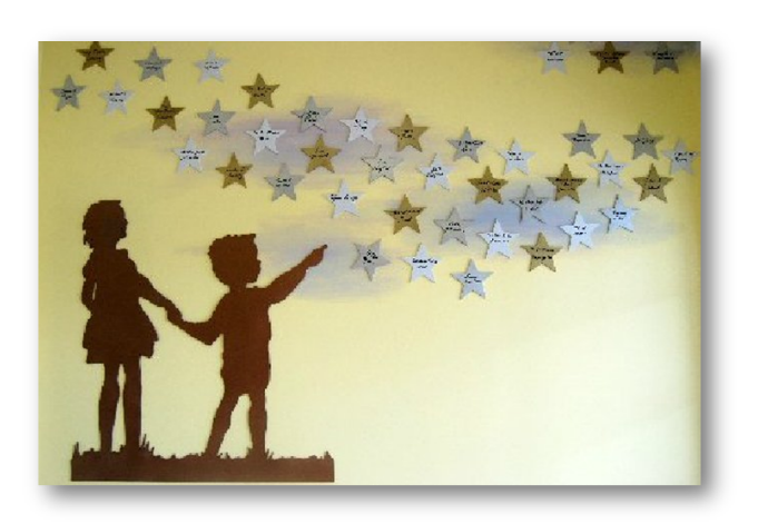 stars donor recognition art installation | Donor Wall Ideas ...