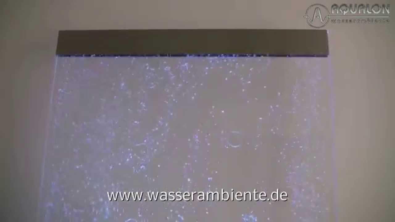 Aqualon Wasserwand Mit Luftsprudel Effekt Und Beleuchtung Mit Bildern Wasserwand Beleuchtung Werbedisplays