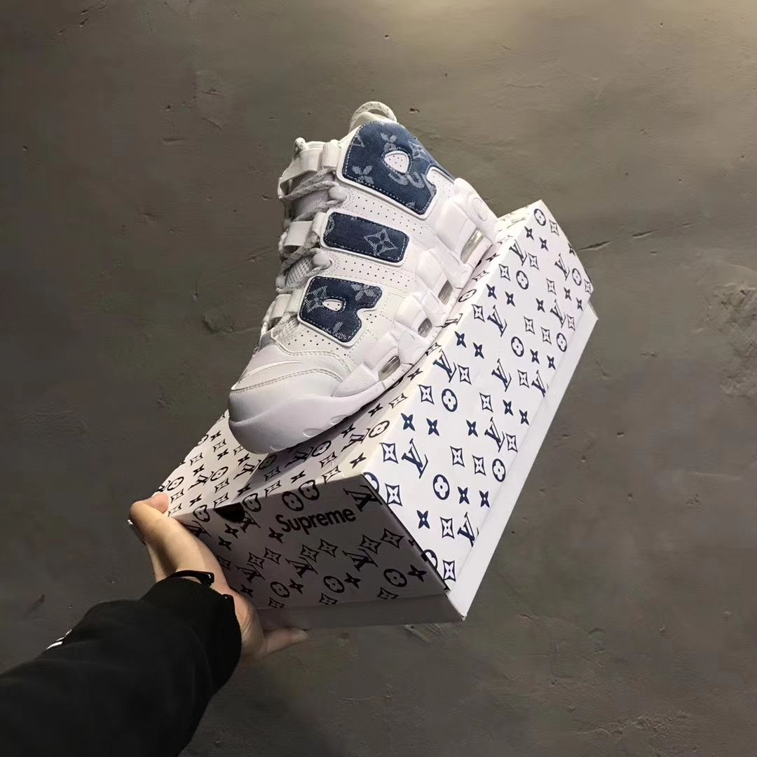 3cdee0863d274 Louis Vuitton x Supreme x Nike air more Uptempo denim | Nike | Nike ...