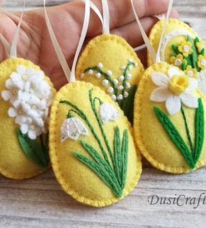 18 spring crafts felt