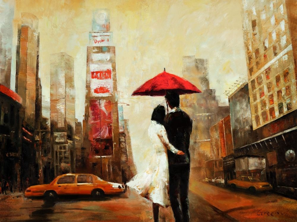Find More Painting Calligraphy Information About Brooklyn Bridge Umbrella Wedding Couple Home Decor Wall Art Canvas Bar Cafe Bedroom Living