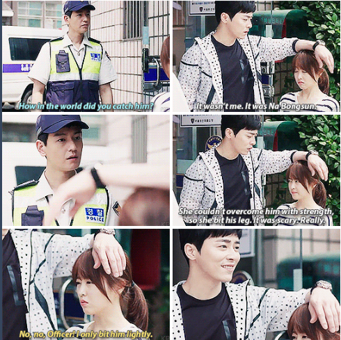 Oh My Ghostess, I love how he just naturally used her head