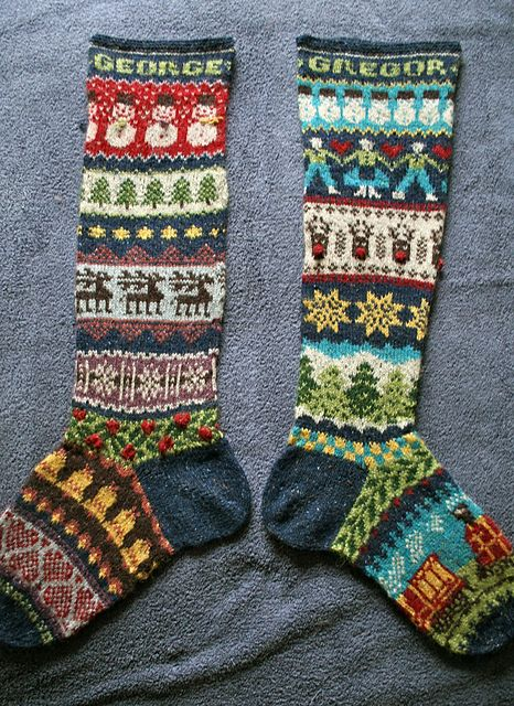 Ravelry: poppleton\'s Pair of Stockings | Christmas | Pinterest ...