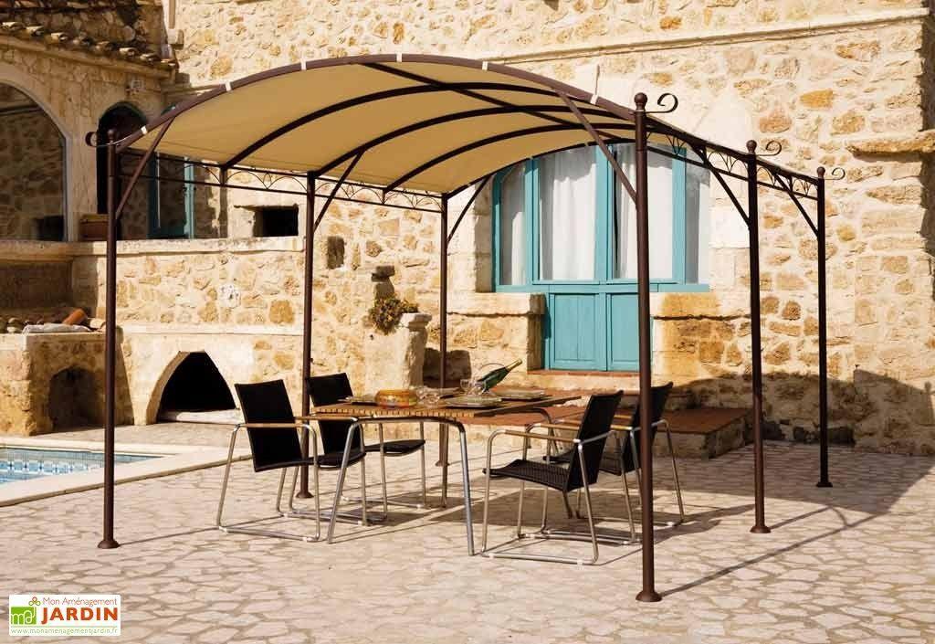Tonnelle Fer Forge Illusion 4x3 M Pergola Roof Construction Gazebo