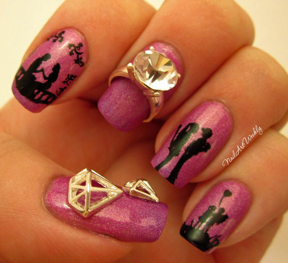 A Love Story: A Skittle Nail Art Design | Stamping plates, Manicure ...