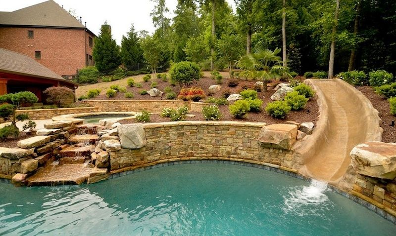 15 Stylish Pool Ideas That Make A Statement Backyard Pool Landscaping Pool Landscape Design Swimming Pool Designs
