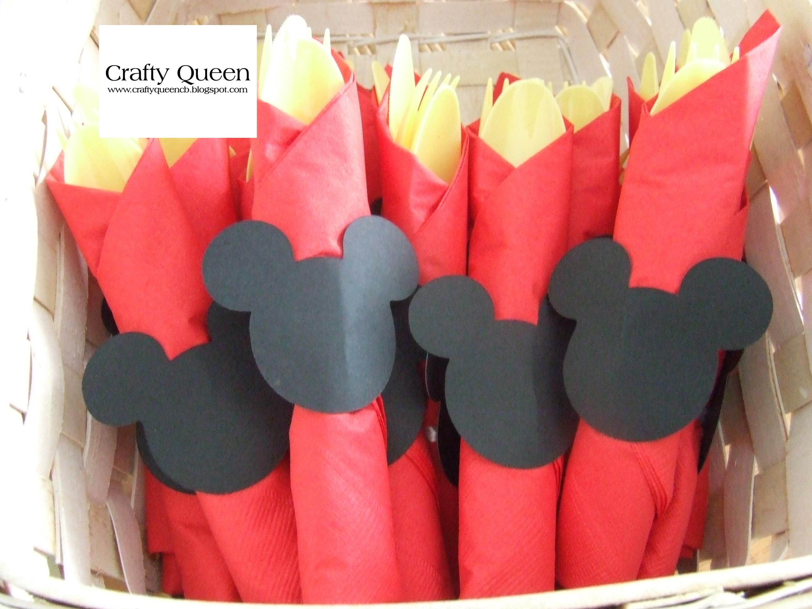 Silverware for our grandson's 2nd Mickey Mouse themed birthday party