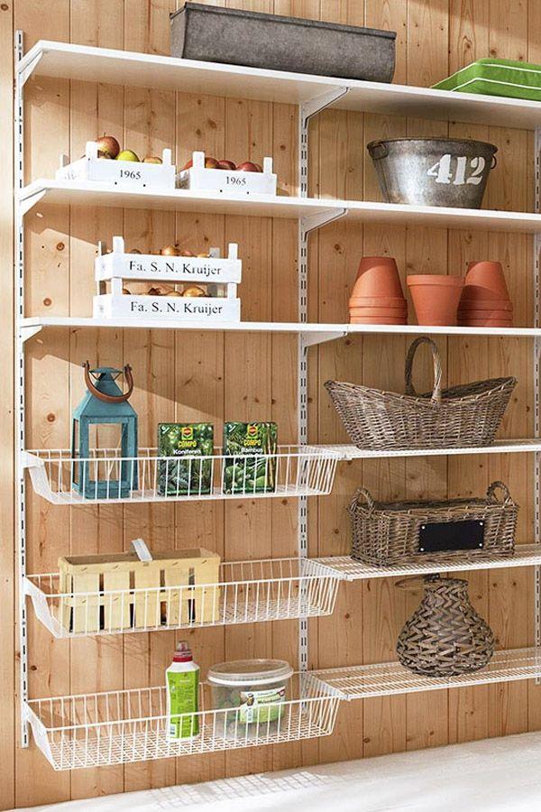 Wandregalsystem küche  Vorratskammer / Abstellkammer planen mit Regalsystem P-SLOT ...