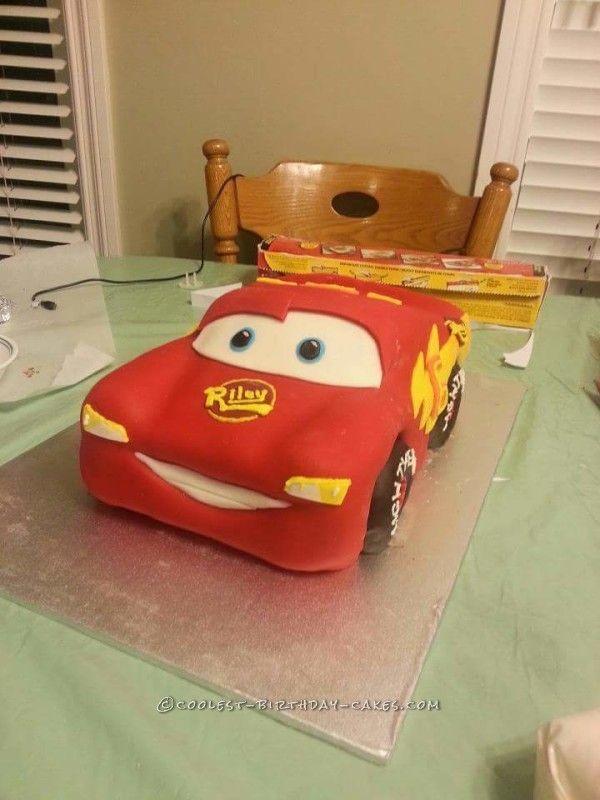 Coolest Homemade Lightening McQueen Birthday Cake Mcqueen cake