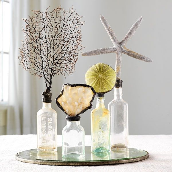 Sea bottles fun tips and crafts pinterest best for Glass bottle display ideas