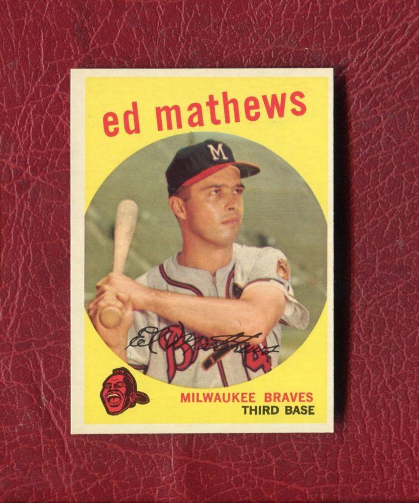 1959 TOPPS 450 EDDIE MATHEWS (HOF) MILWAUKEE BRAVES SET