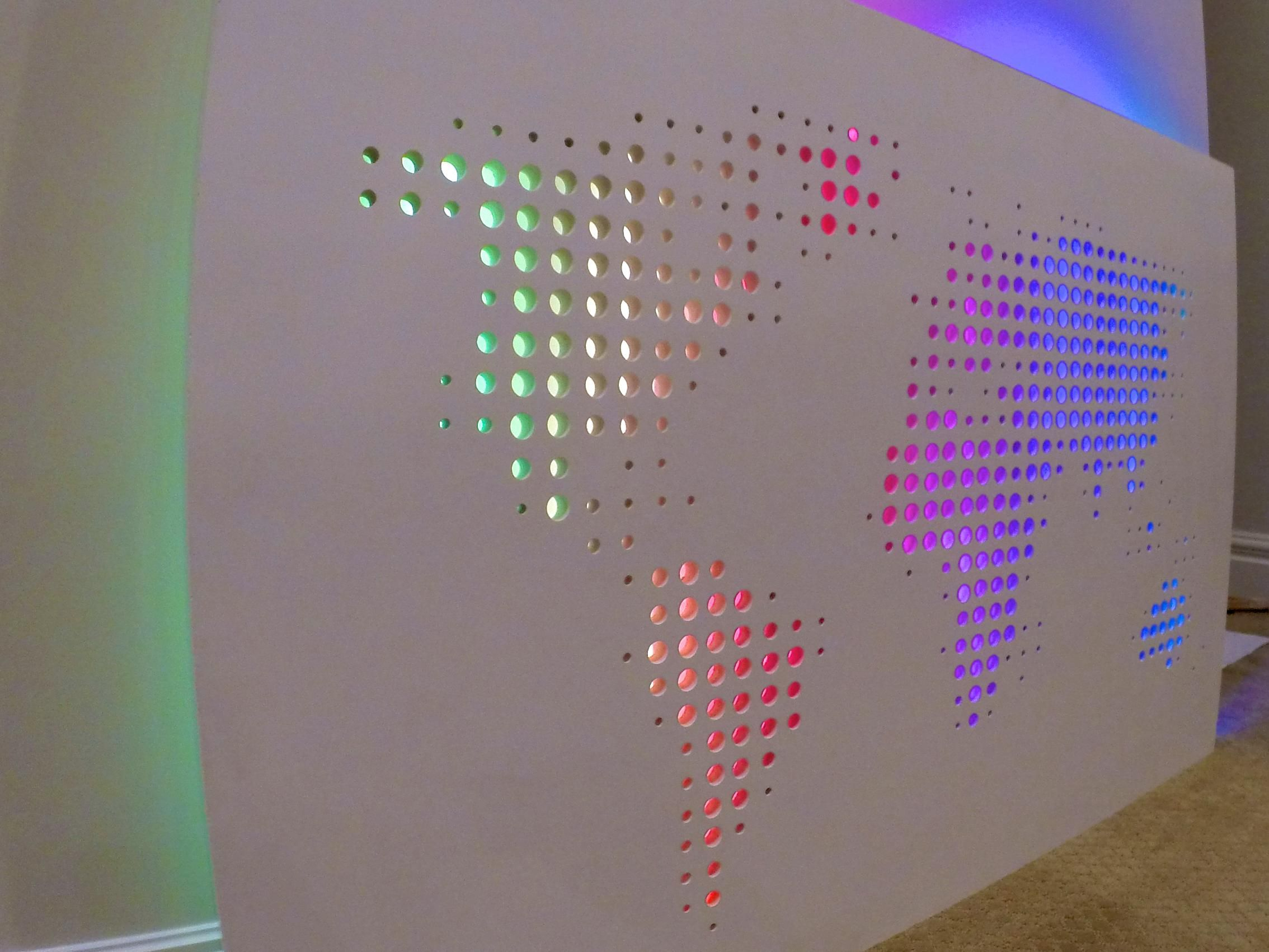 Hey diy remember that abstract world map art project posted a hey diy remember that abstract world map art project posted a couple months ago well i added leds and an arduino to turn it into a clock where only the gumiabroncs Choice Image