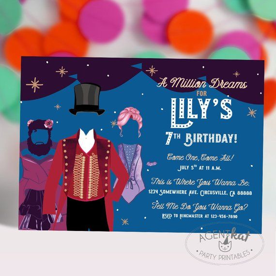 Circus Party Invitation A Million Dreams Tent Etsy Circus Party Invitations Circus Party Party Invitations