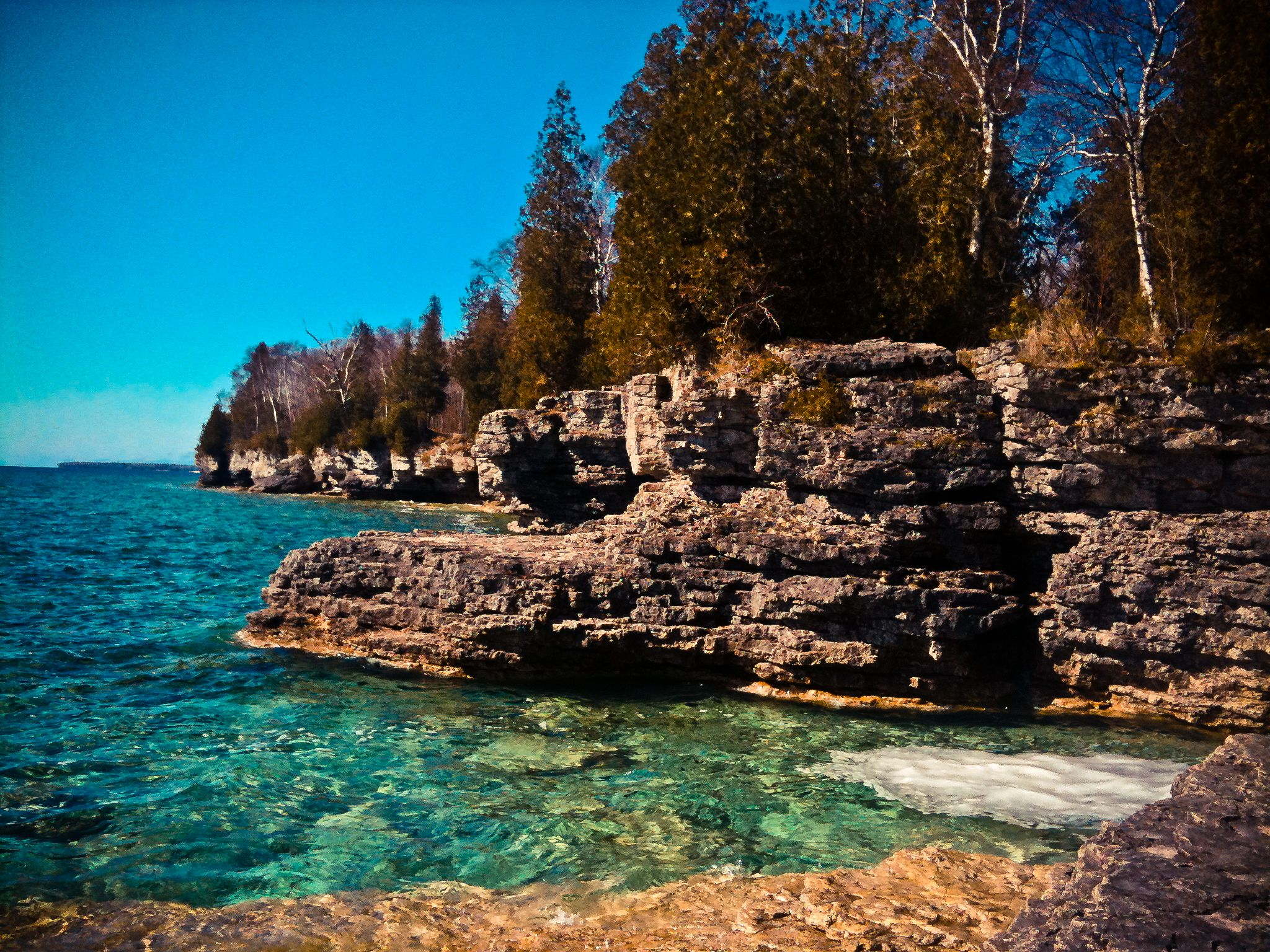 Whitefish Dunes State Park Near Cave Point Door County