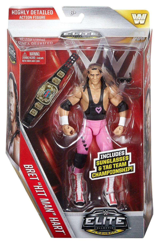 WWE Elite Flashback Hart Foundation Bret Hart Figure Wwe